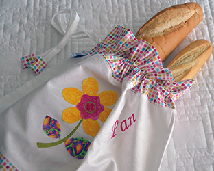 El pan y su bolsa beatriz designs for Apliques para toallas